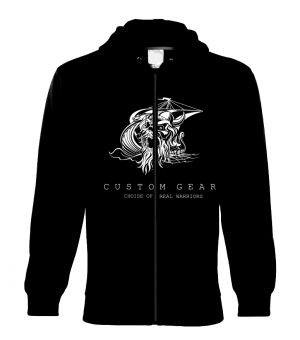 VIKING MEN's ZIPPER HOODY BLACK