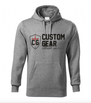 CUSTOM GEAR MEN's HOODY GREY
